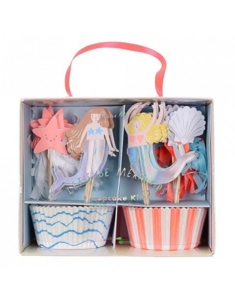 CUPCAKE LETS BE MERMAIDS KIT