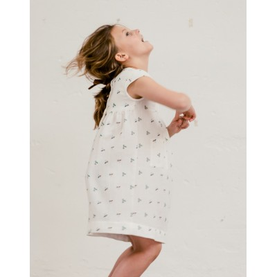 Vestido Sumida Fiore Blanco Perfil