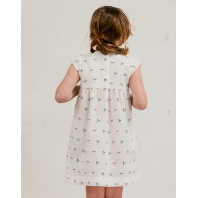 vestido Sumida Fiore Blanco espalda