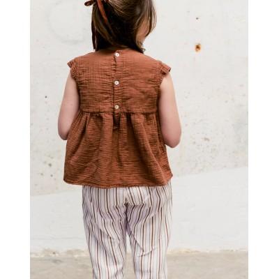 Blusa Sumida Teja bordada espalda