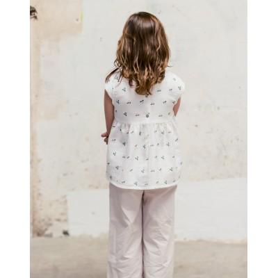 Blusa Sumida Fiore Blanca espalda