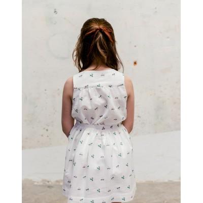 Blusa tunecina fiore blanca espalda
