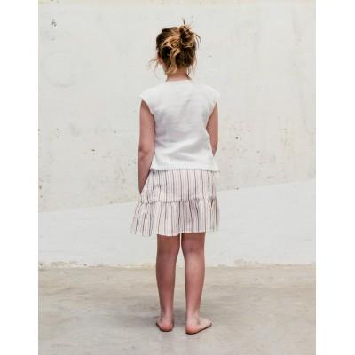 falda rayas marrón espalda