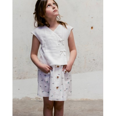 Falda cerezo fiore blanca 2