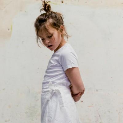 Camiseta Blanca Básica niña