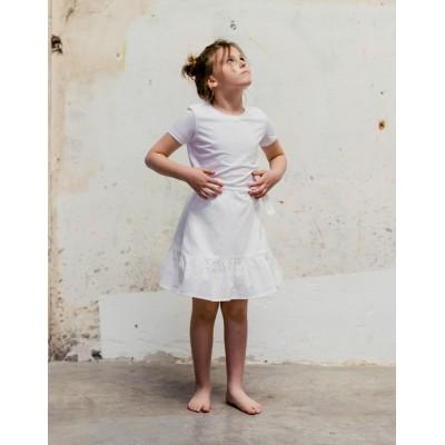 Camiseta básica blanca niña