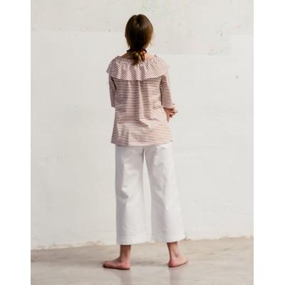Camiseta Camino blanca con teja espalda