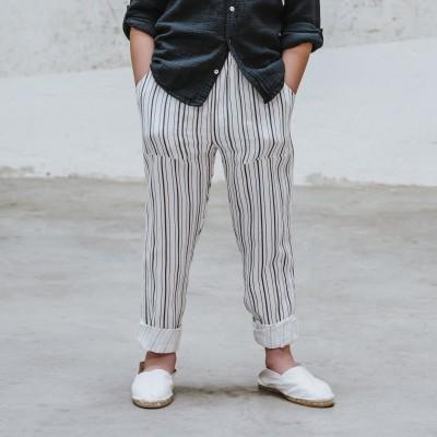Pantalón Natori rayas blancas