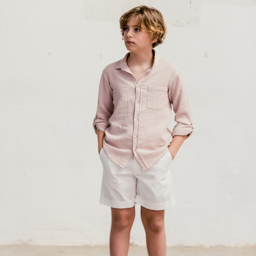 Camisa rosa byb clásica