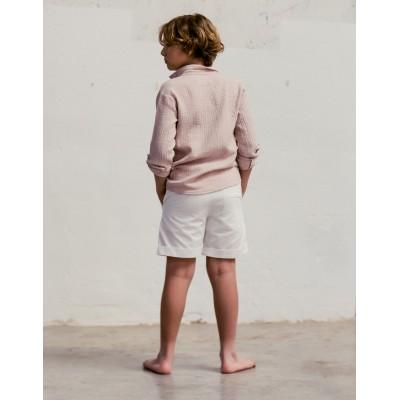 Camisa rosa byb clasica niño espalda