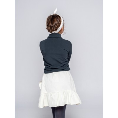 falda wood niña volante pana