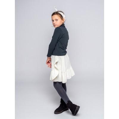 falda wood niña volante piedra