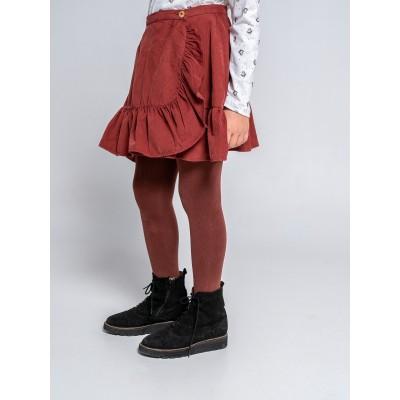 falda wood con volante pana niña