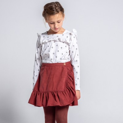 falda wood teja pana niña mayor y  pequeña