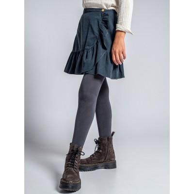 detalle falda pana con volante niña