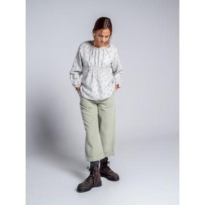 pantalon ranch verde niña mayor pana gruesa
