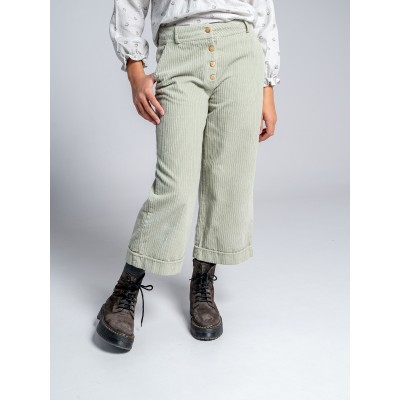 Pantalón verde ranch detalle botones