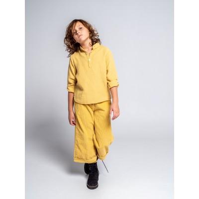 Pantalon niña pana gruesa amarillo