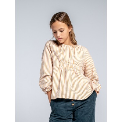 Blusa algodon rayas niña ideal