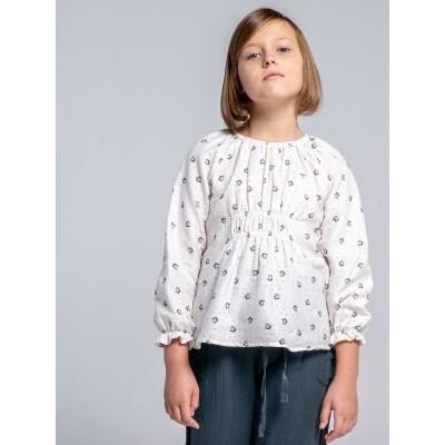Blusa wind estampada algodón florecitas niña