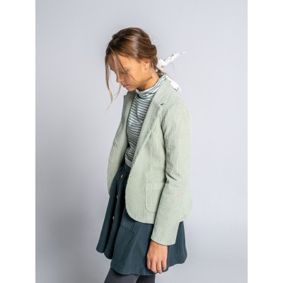 chaqueta niña mayor pana gruesa verde blaizer