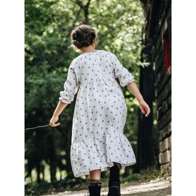 espalda vestido niña ideal flores