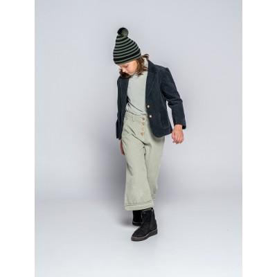 chaqueta forja pana gruesa niña botones madera