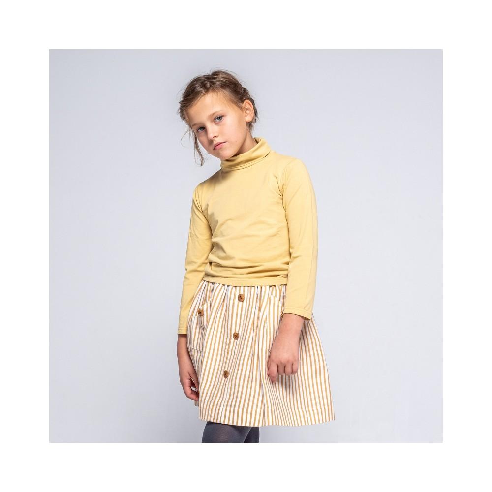 falda bloom rayas mostaza niña