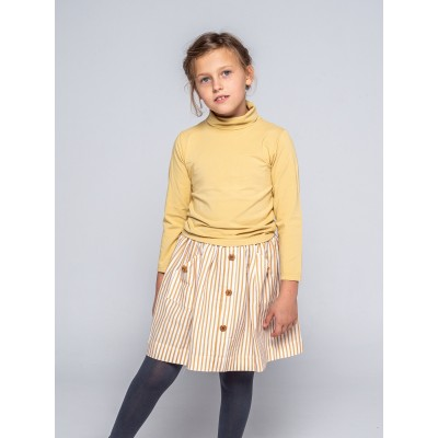 falda niña ideal rayas mostaza