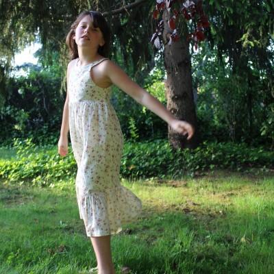 vestido niña largo flores