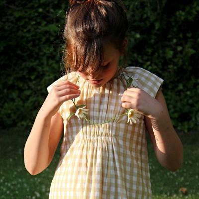 vestido lilly vichy caramelo