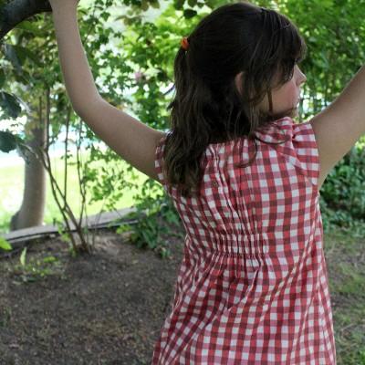 vestido ideal niña vichy rojo
