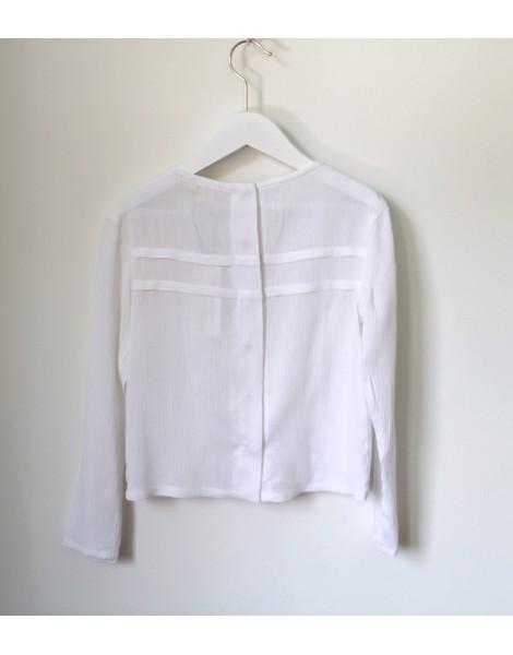 Camisa Jaretas Blanca Espalda