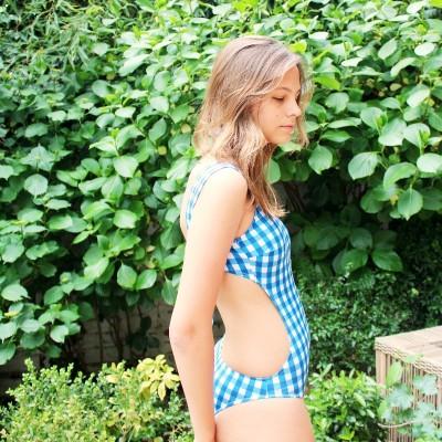 Trikini Daisy Vichy Azul