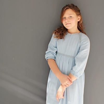 Vestido September Azul Puntilla