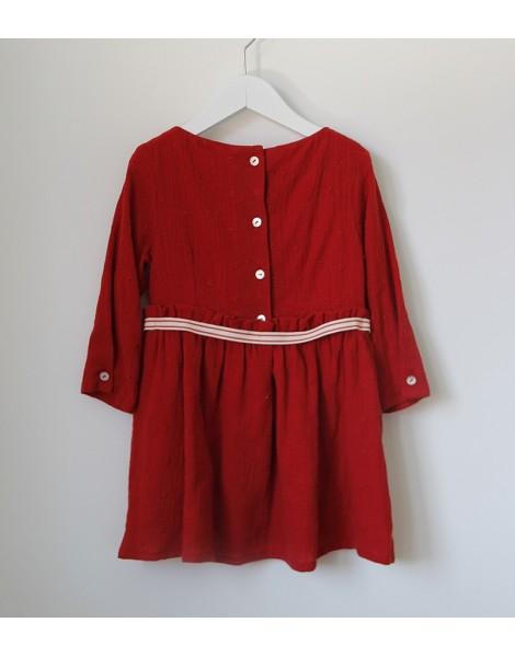 Vestido Lazo Rojo Espalda