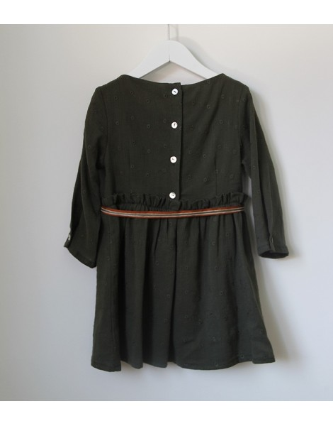 Vestido Lazo Verde Espalda