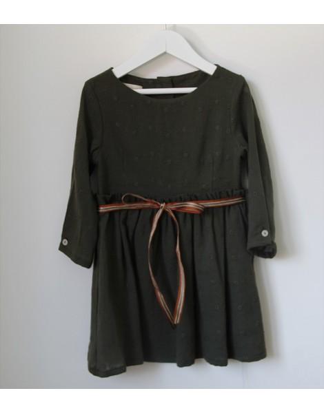 Vestido Lazo Verde Delantero
