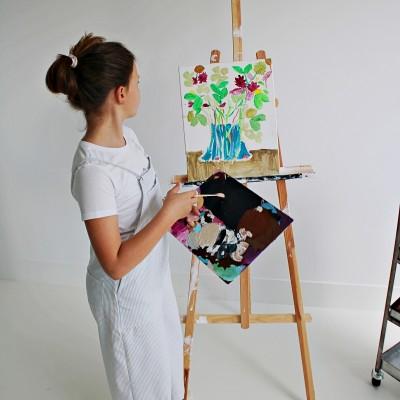 peto niña pintor
