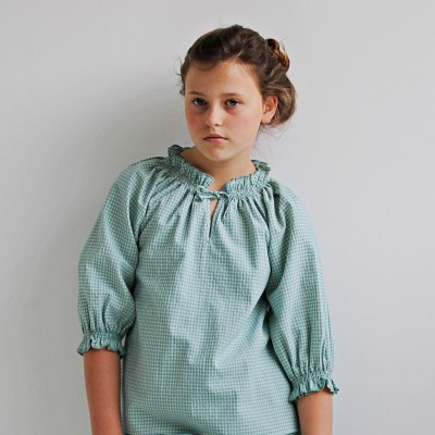 Blusa niña vichy mint