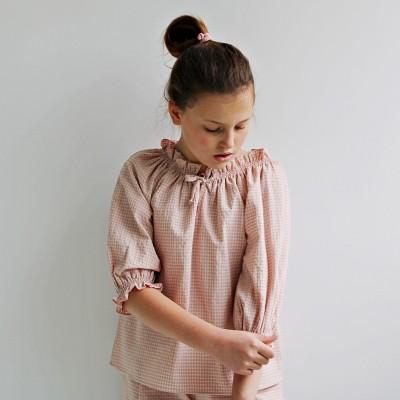 Blusa niña Vichy rosa