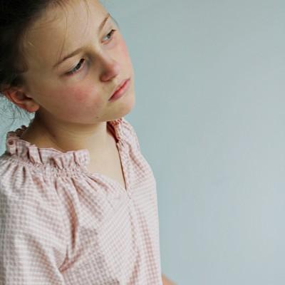 Blusa niña ideal vichy
