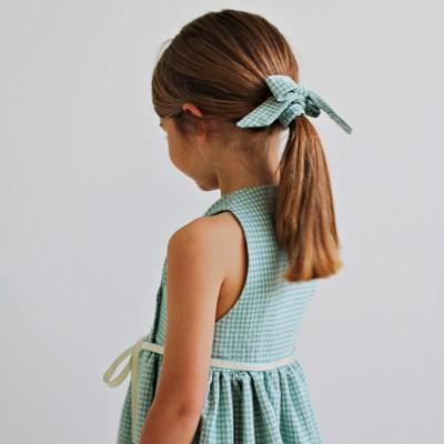 vestido niña cruzado vichy