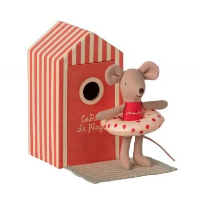 hermanita raton cabina de playa maileg