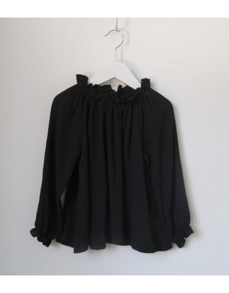 Blusa Chimenea Negra Delantero