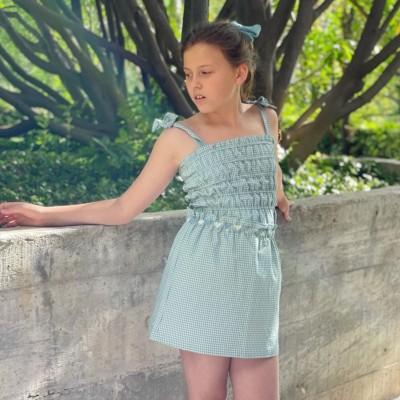falda vichy mona niña
