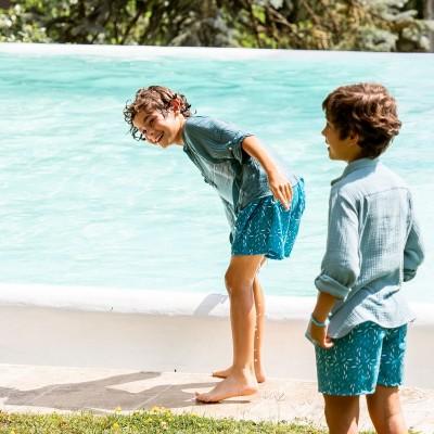 Bañador niño azul
