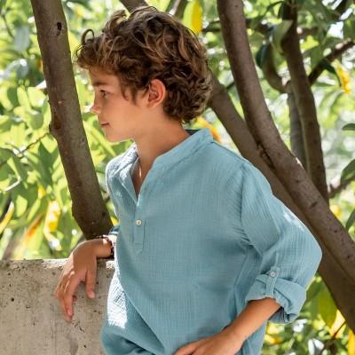 camisa niño kurta verde