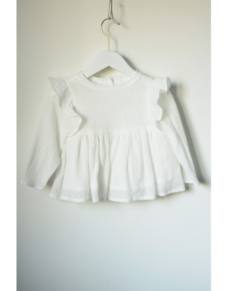 Blusa Bebe Blanca delantero