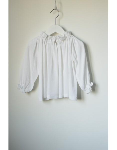 Blusa Chimenea Blanca Delantero